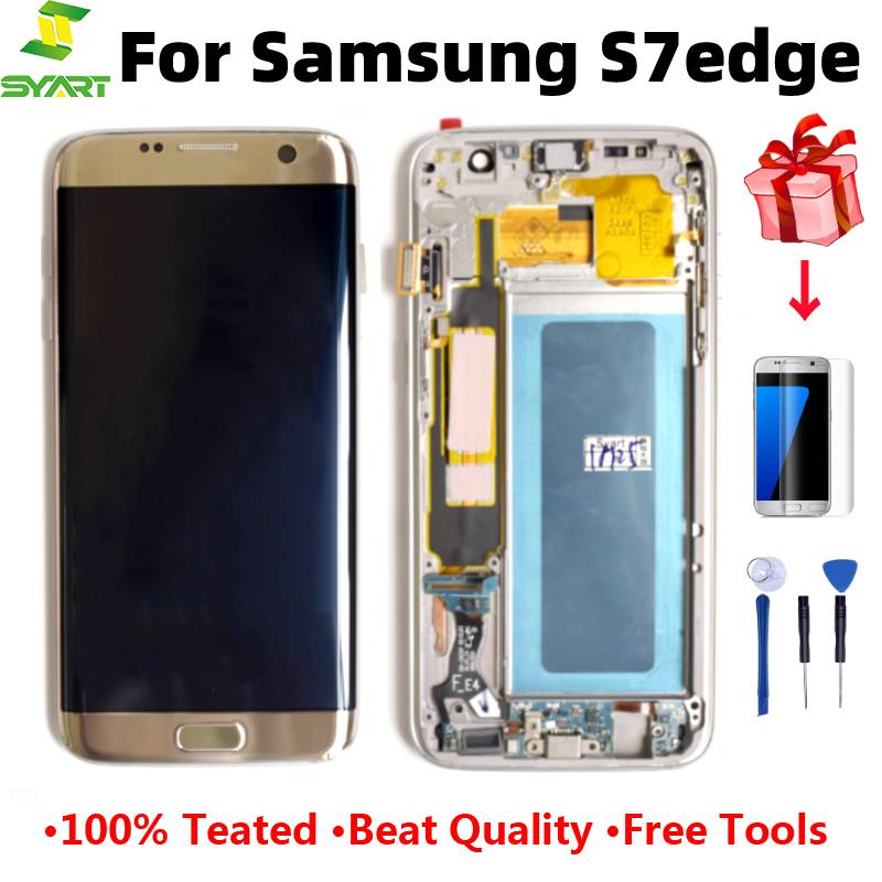 For Samsung Galaxy S7 Edge Screen Super AMOLED 5.5 S7Edge G935 G935F SM-G935F LCD Display Touch Digitizer Assembly With Frame image