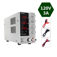 Newest 120V 3A Adjustable Laboratory Power Supply DC Regulable Voltage Stabilizer Mini Bench Source Digital 0.01W