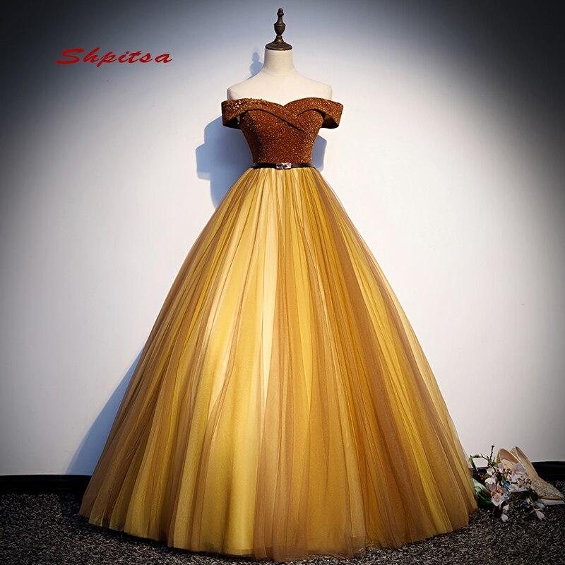Gold Ball Gown Princess Quinceanera Dresses Girls Beaded Masquerade Sweet 16 Dresses Vestidos De 15 Anos Prom Dresses