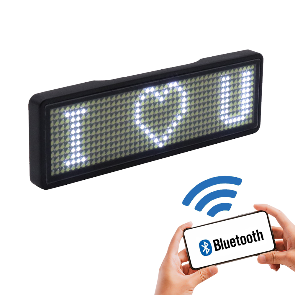 Permalink to 2020 fully new bluetooth LED name badge support multi-language multi-program small LED display HD text digits pattern display
