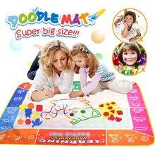 120*90Cm Funny Magic Water Tekening Kleurboek Doodle Mat Met 4 Magic Pen Schilderij Tekening Board Voor kinderen Speelgoed Verjaardagscadeau