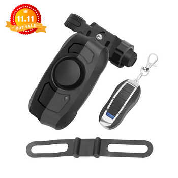 110dB USB Rechargeable Wireless Anti-Theft Vibration Motorcycle Bike Bicycle Security Lock Alarm with Remote Control - DISCOUNT ITEM  28% OFF All Category