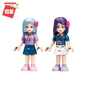 Image 4 - Qman 2012 Blue Whale Aquarium Set Friends Series with Mini figures Educational Building Blocks Toys For Girls DIY Gifts 487PCS