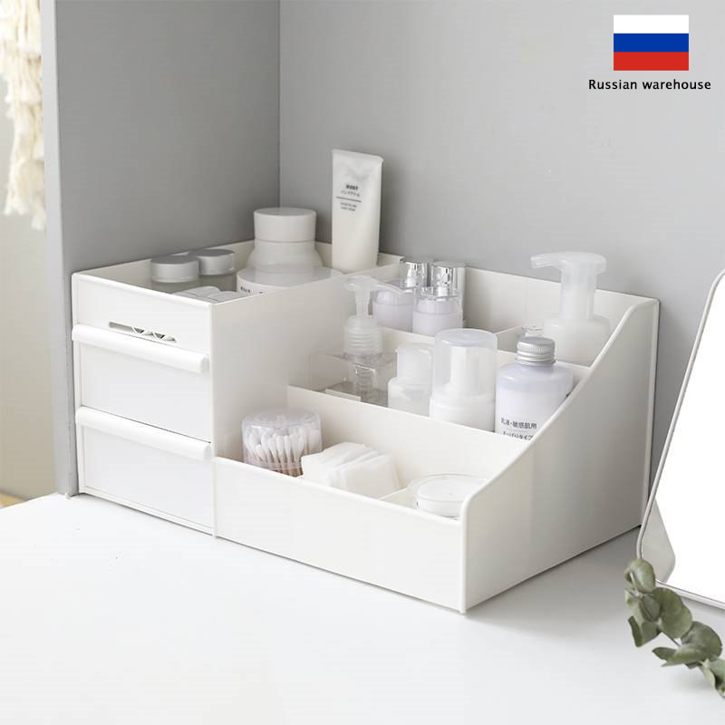 Box Storage-Box Jewelry-Container Drawers-Organizer Cosmetic Makeup Plastic
