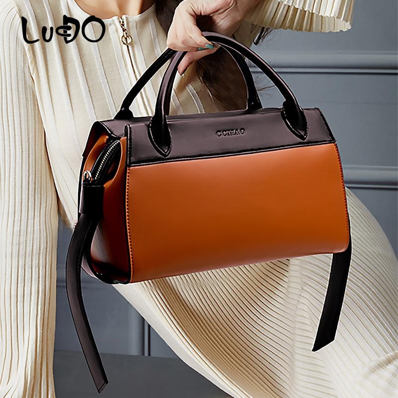 LUCDO Brand  PU Leather Luxury handbag Women bags Designer Messenger Crossbody Bags for Ladies Big Capacity Tote bags