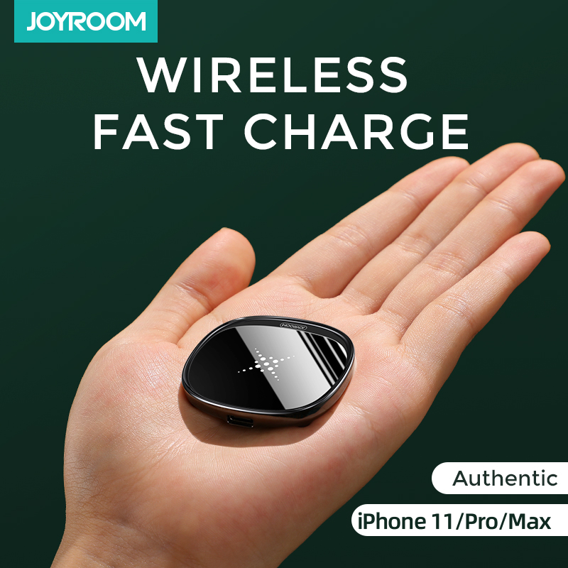 Joyroom 10W Fast LED Wireless Charger For Samsung Galaxy S7 S6 EDGE S8 S9 S10 Plus Usb cable For iPhone 8 x 11 portable charger