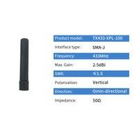 אנטנה עבור 433MHz מיני נחושת אנטנה קצר 433M אנטנה עם SMA זכר עבור לורה DTU Wireless Module אוויר TX433-JZG-6 (2)