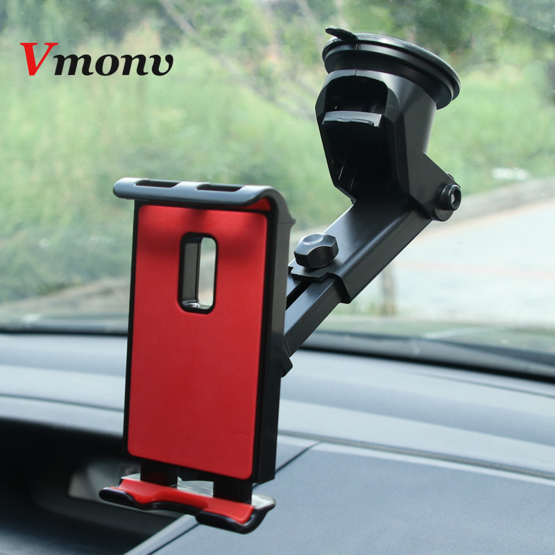 Tablet Phone Stand for IPAD Air Mini 1 2 3 4 Samsung Strong Suction Tablet Car Holder Mount for 4-10.5 Inch iPhone X Huawei