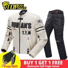 Duhan Zomer Motorjas Mannen Ademend Mesh Rijden Moto Jacket Motorcycle Body Armor Protector Moto Cross Kleding