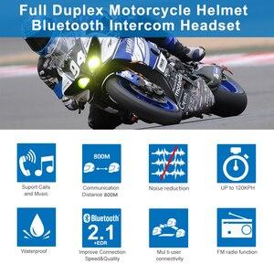 Image 2 - FreedConn TCOM SC BT Interphone Motorcycle Helmet Intercom Wireless Bluetooth Headset Waterproof Intercom LCD FM