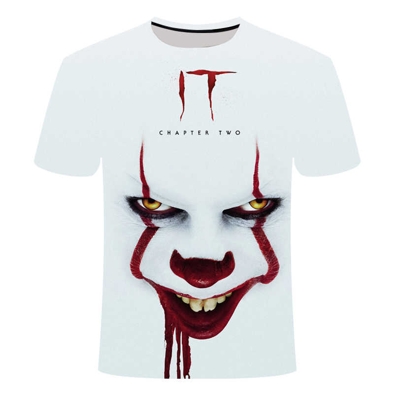 Horror Movie It Penny Wise Clown Joker 3D Print Tshirt Men/Women Hip Hop Streetwear Tee T shirt 90s Boys Cool Clothes Man Tops