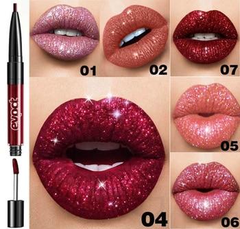 Diamond Lip Gloss-Conjunto de maquillaje Para Mujer, Base de maquillaje, doble cabezal, mate, brillo labial, lápiz labial de Focallure, cosmético, TSLM1