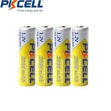 4Pcs PKCELL NI MH 2000mAh 1.2V AA Batteria Ricaricabile 2A Bateria Baterias