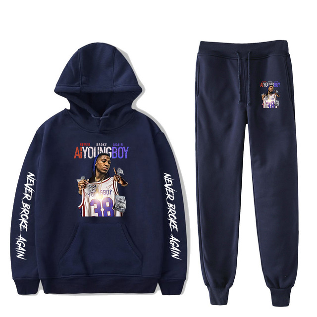 SET YOUNGBOY NEVER BROKE AGAIN HOODIE + TROUSERS (20 VARIAN)