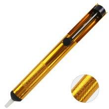 Отпаивающий насос всасывающий оловянный пистолет паяльная присоска ручка алюминиевый Металл Удаление Вакуумный паяльник Desolder ручные сварочные инструменты