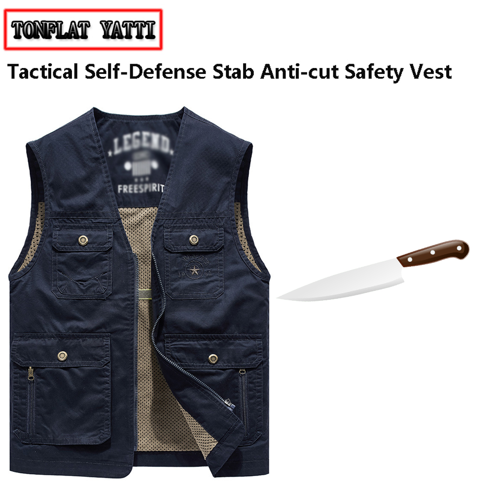 2020 Self-Defense Anti-stab Anti-hacking Tools Vest Military Tactical Flexible Stealth Self UCt Mirror Fbi Swat Safety Clothing