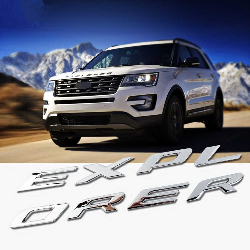 Dla FORD EXPLORER 2010- 2018 akcesoria CAR STYLING akcesoria samochodowe samochód CHROME BONNET godło 3D LOGO naklejka alfabet