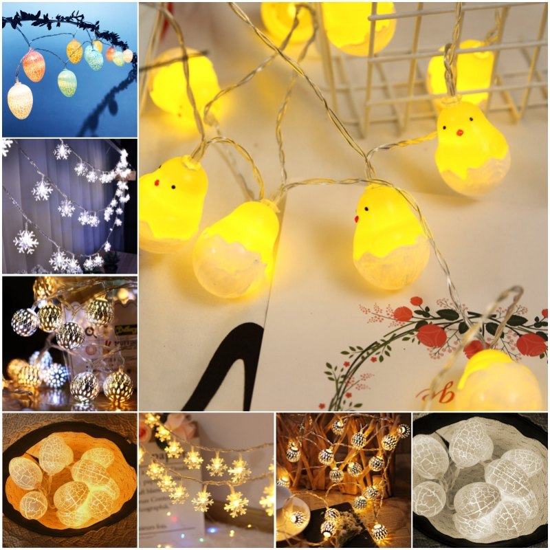 LED Garland Fairy Lights Easter Party Decorative Wedding Net Light String <font><b>Holiday</b></font> Lighting Christmas Wedding Party <font><b>Decoration</b></font> image