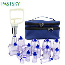 13Pcs Vacuum Cupping Cans Strong Suction Acupuncture Jars Massage Sucker Chinese Therapy Pull Pump Detoxification Health Care