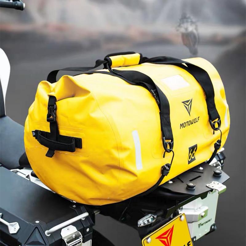 Black Motorcycle Back Seat Rear Storage Multifunctional Bag Motorbike Accessory