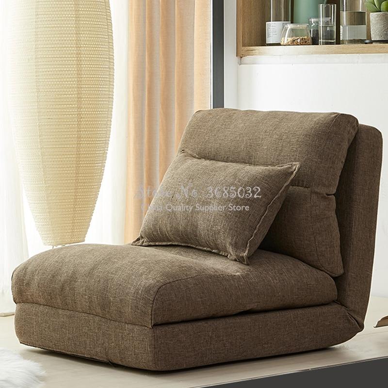 Foldable Washable Sofa Bed Folding Single Person Small Apartment  Multi-function Tatami Bedroom Lazy Sofa 5 Gears Adjustable