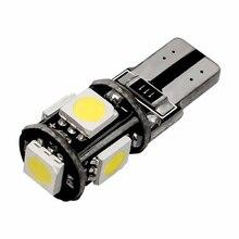 Set 5 SMD T10 Led light Canbus strumento Gap Side Tail Wedge Parking Lamp Bulb 168 Signal 6pcs White 12V 5W 12*30mm