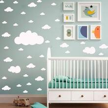 Декор для детской комнаты наклейка на стену с маленькими облаками
