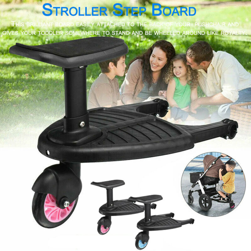 Baby Kids Stroller Step Board Stopping Plate Outdoor Activity Board Stroller Baby Seat Standing Plate Twins Strollers Accessory