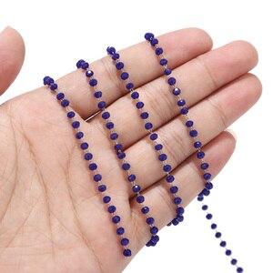 Image 5 - 5 Meter Rozenkrans Chain Rvs Rood Blauw Zwart Dark Green Kralen Link Chain Voor Diy Sieraden Maken