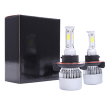 цена на 2pcs 12V Headlamp H4 LED H11 H1 H7 9005 H13 9006 Car Headlight Bulbs 72W 8000LM Car Accessories 6500K led fog light