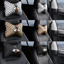 Car Accessories 2 Pieces Seat belt cover High Quality Neck Headrest Pillows For Car Seat Cover Headrest Pillows covers Black