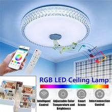 110-220V Modern RGB LED Ceiling Lights Home lighting APP bluetooth Music Light Bedroom Lamps Smart Ceiling Lamp+Remote Control