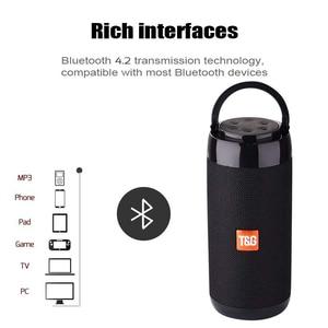 Image 4 - TG113C Bluetooth Speaker Portable Outdoor Loudspeaker Wireless Column With FM Radio Waterproof Subwoofer &Phone Holder 9 Colors