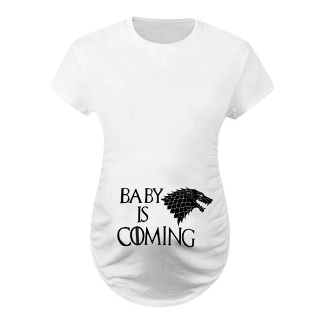 Camisetas de maternidad divertidas de talla grande 1