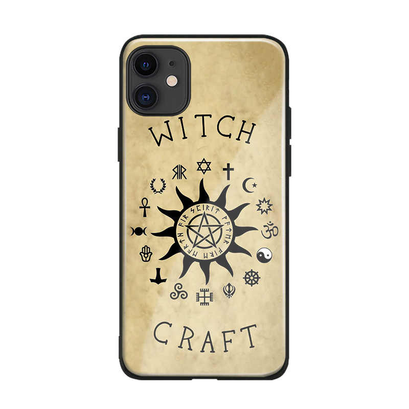 Heksen Maan Tarot Mystery Totem Glas Zachte Siliconen Telefoon Case Cover Shell Voor Iphone Se 6 6S 7 8 plus X Xr Xs 11 Pro Max