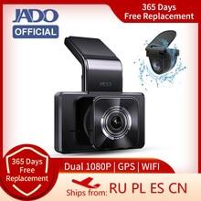 Jado D330-GD traço cam acessórios do carro câmera reversa carro dvr wifi 24h estacionamento monitor baseus gps carro para 1080hd