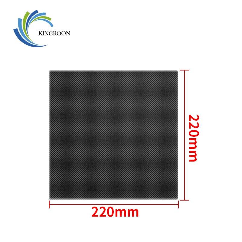 220*220*4mm peças de impressora 3d cama quente