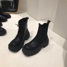 Панковские ботинки на средней платформе с квадратным носком;
