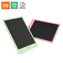 New Xiaomi Mijia Wicue 10 Inch Kids LCD Handwriting Board Drawing Tablet Drawing Pad for Kids Children Green& Pink Writing Board(China)