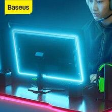 Baseus juego RGB LED Luz de tira Flexible cinta luminosa led de 4 pines de 1,5 M de cinta de DC 12V de la computadora de la PC Software de Control