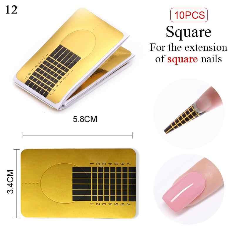 10/20/50/100/500 pces francês prego forma dicas para embeber fora uv gel extensão rápida prego gel ouro profissional ferramentas de design da arte do prego