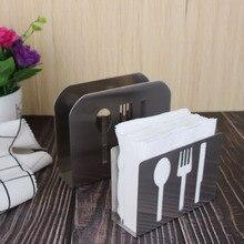 Stainless Steel Paper Towel Rack Restaurant Holder Creative Simple Vertical Napkin Clip Hotel Seat 040 y