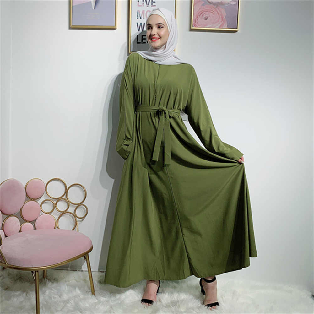 Dromiya העבאיה קטאר איחוד האמירויות תורכי אסלאמי מלזיה המוסלמי חיג 'אב שמלת Abayas לנשים חלוק Musulmane קפטן דובאי בגדים