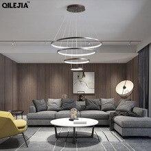 Современный подвесной светильник для спальни, гостиной, столовой, офисной комнаты, Креативный светодиодный подвесной светильник, вход 110 В, 220 В