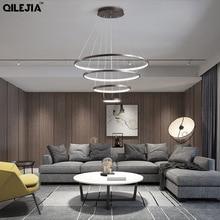 Luminaire suspendu moderne pour chambre salon salle à manger bureau pièce luminaire créatif pendentif LED entrée de lumière 110V 220V