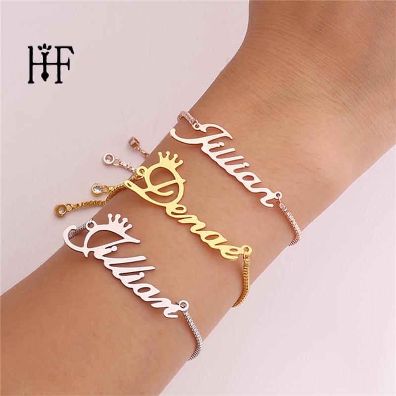 Name Bracelet Charms Jewelry Custom