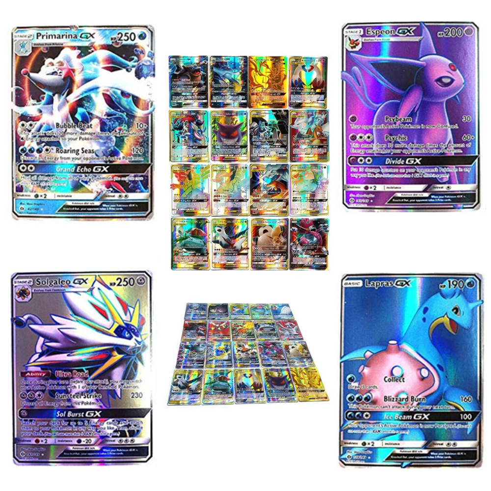 200 Pcs TOMY Pokemon GX MEGA Shining Cards Game Battle Carte Trading Cards Game Children Toy