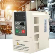 Convertidor de frecuencia de entrada monofásica, inversor de salida monofásica VFD para Control de velocidad del Motor, 0,75 kW, 1,5 kW, 2,2 kW, 220V