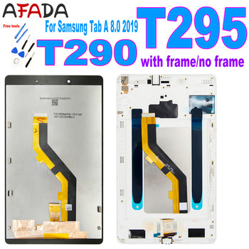 New For Samsung Tab A 8.0 2019 SM-T290 SM-T295 T290 T295 LCD Display Touch Screen Digitizer Glass Panel Assembly with Frame for samsung galaxy tab 4 7 0 sm t230 t230 full lcd display panel black touch screen digitizer glass assembly replacement