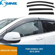 Seite Fenster Deflektoren Für Honda CRV CR-V 2012 2013 2014 2015 2016 Rauch Wetter Shields Regen Sonnenschutz vent Regen Visier SUNZ